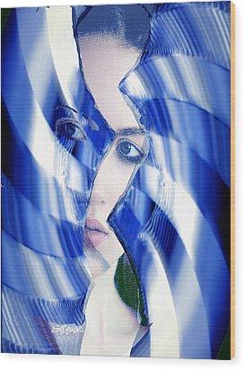 Broken Mirror Broken Dreams Wood Print by Seth Weaver
