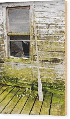 Broken Window Wood Print by Mary Carol Story