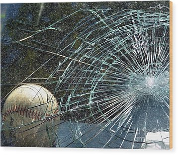 Wood Print featuring the photograph Broken Window by Robyn King