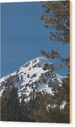 Brokeoff Mtn. In Spring Wood Print by Jan Davies