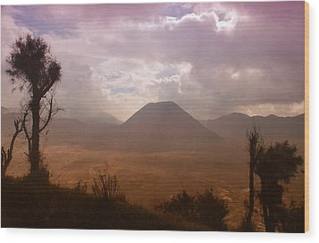Bromo Wood Print by Miguel Winterpacht