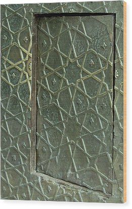 Bronze Door In A Door Wood Print