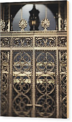 Bronze Gate Wood Print