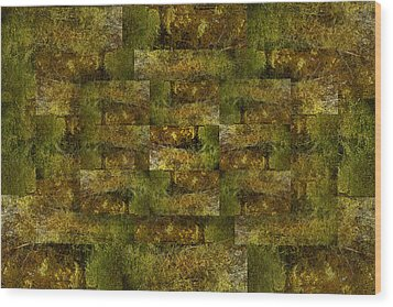 Wood Print featuring the digital art Bronze Weave by Tom Romeo