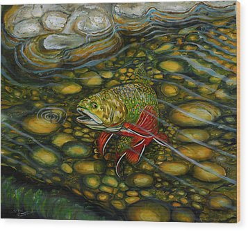 Brook Trout Wood Print by Steve Ozment