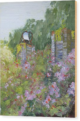 Brookgreen Old Kitchen Bell Wood Print by Cecelia Campbell