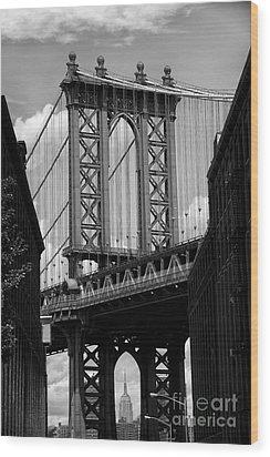 Manhattan Bridge Nyc Wood Print