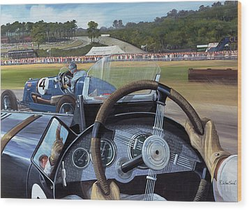 Brooklands - From The Hot Seat Wood Print by Richard Wheatland