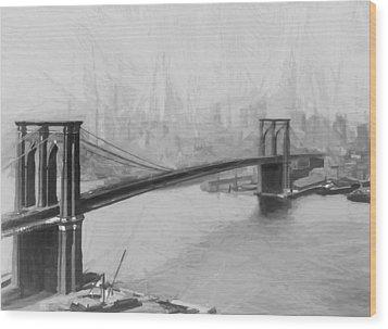Brooklyn Bridge 2 Wood Print by Steve K