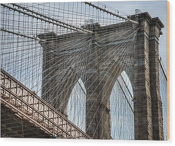 Wood Print featuring the photograph Brooklyn Bridge by Chris McKenna
