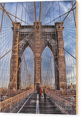 Wood Print featuring the photograph Brooklyn Bridge by Paul Fearn