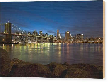Brooklyn Bridge Wood Print by Svetlana Sewell