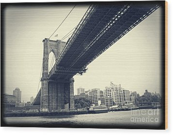 Brooklyn Bridge1 Wood Print by Paul Cammarata