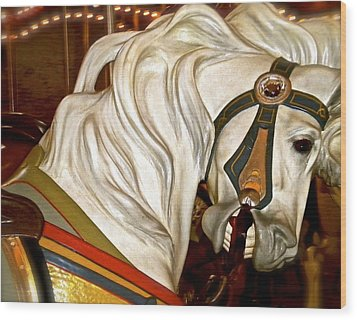 Wood Print featuring the photograph Brooklyn Hobby Horse by Joan Reese