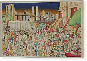 Brooklyn In The 90s Wood Print by Paul Calabrese
