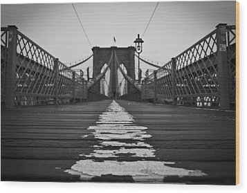 Brooklyn Lines Wood Print by Michael Murphy