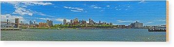 Brooklyn Panorama I Wood Print