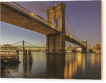 Wood Print featuring the photograph Brooklyn Sunrise by Anthony Fields