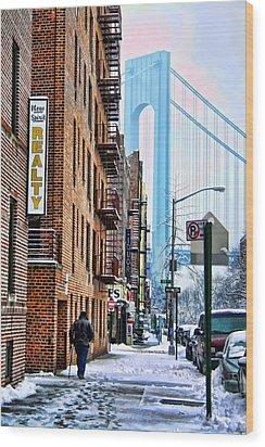 Brooklyn Walk Wood Print