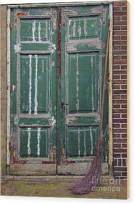 Broom Door Wood Print