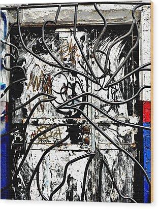 Broome Street Found Art Nyc Wood Print by Steve Archbold