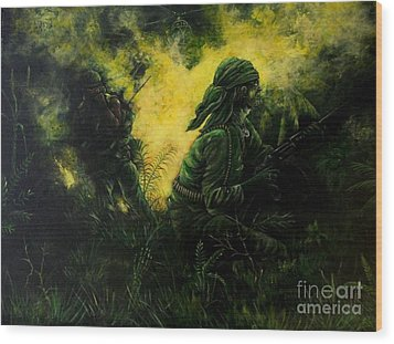 Brothers In Arms Wood Print