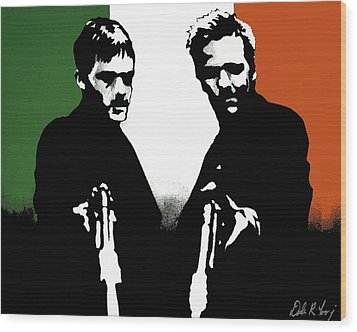 Brothers Killers And Saints Wood Print by Dale Loos Jr