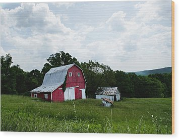 Brown County Barn Wood Print by Off The Beaten Path Photography - Andrew Alexander