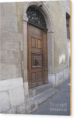 Wood Print featuring the photograph Brown Door by Arlene Carmel