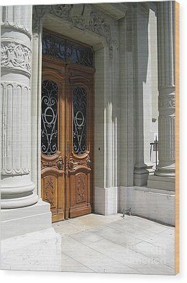 Wood Print featuring the photograph Brown Doors by Arlene Carmel