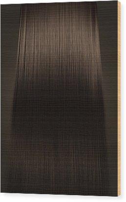 Brown Hair Perfect Straight Wood Print by Allan Swart