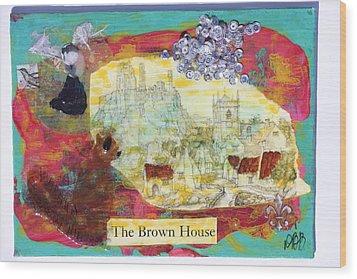Brown House No 1 Wood Print
