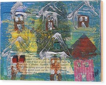 Brown House No. 3 Wood Print