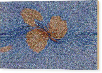 Brown Leaf Afloat Wood Print by Bruce Iorio
