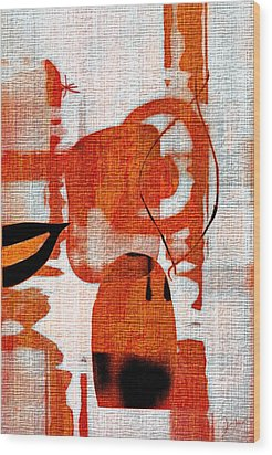 Wood Print featuring the photograph Brown Weave Abstract by Allen Beilschmidt