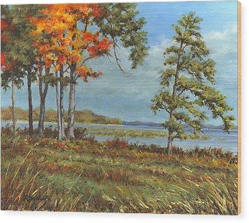 Browns Bay Wood Print by Richard De Wolfe
