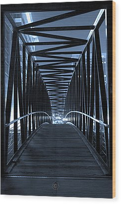 Brown's Island Bridge Wood Print by Brian Archer