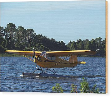 Brown's Piper Cub 005  Wood Print