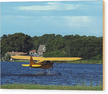 Brown's Piper Cub Wood Print