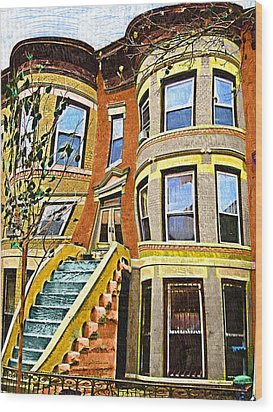 Brownstone Wood Print