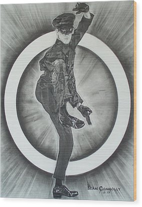 Bruce Lee Is Kato 2 Wood Print by Sean Connolly