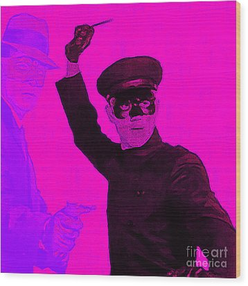 Bruce Lee Kato And The Green Hornet - Square M88 Wood Print by Wingsdomain Art and Photography