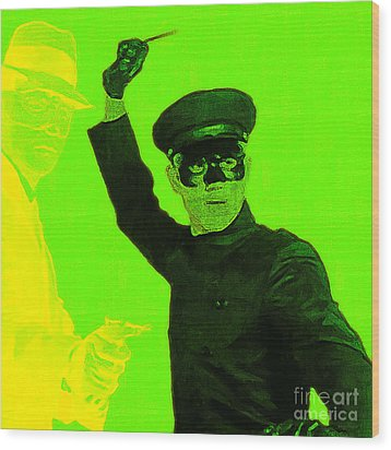 Bruce Lee Kato And The Green Hornet - Square P54 Wood Print by Wingsdomain Art and Photography