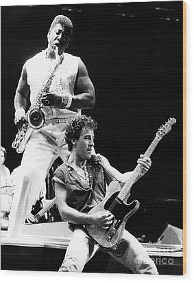 Bruce Springsteen 1985 11x14 Size Wood Print