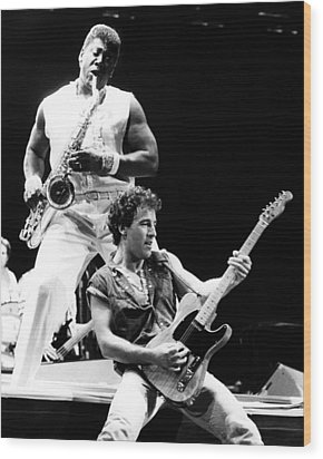 Bruce Springsteen 1985 16x20 Size Wood Print by Chris Walter