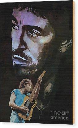 Bruce Springsteen. Wood Print by Andrzej Szczerski