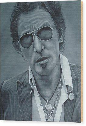 Bruce Springsteen IIi Wood Print by David Dunne