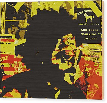 Bruce Springsteen Wood Print by Jeff DOttavio