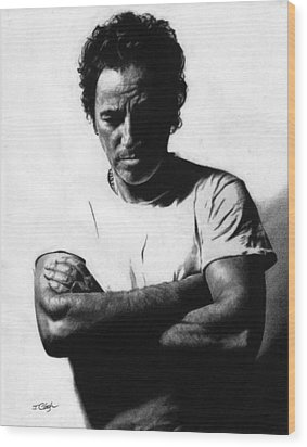 Bruce Springsteen  Wood Print by Justin Clark