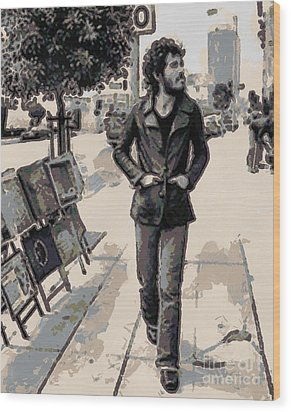 Bruce Springsteen Wood Print by Paulette B Wright